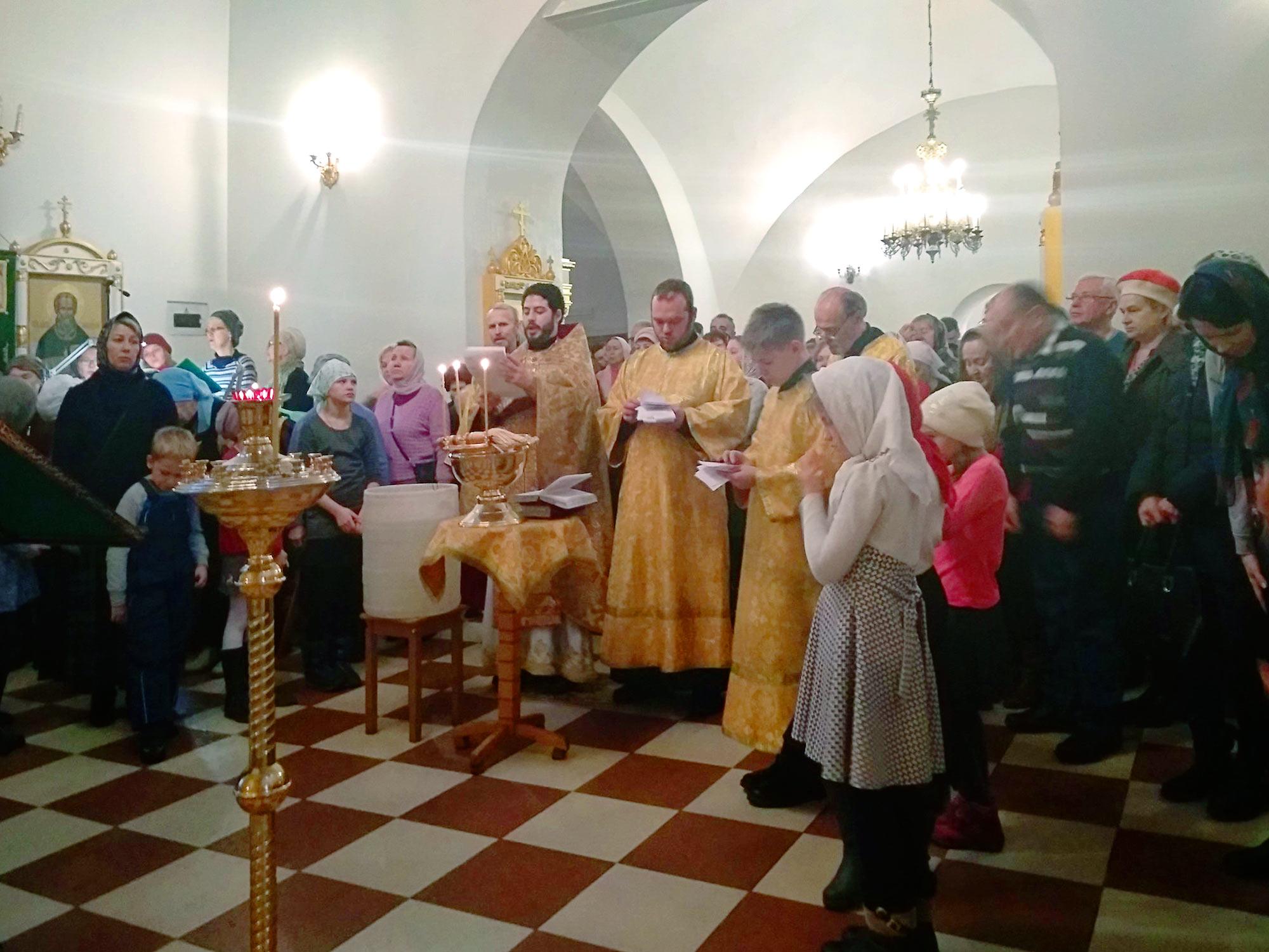Новолетие на приходе Троицкого храма на Репне